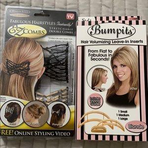 EZ Combs stretchable combs & Bumpits BUNDLE